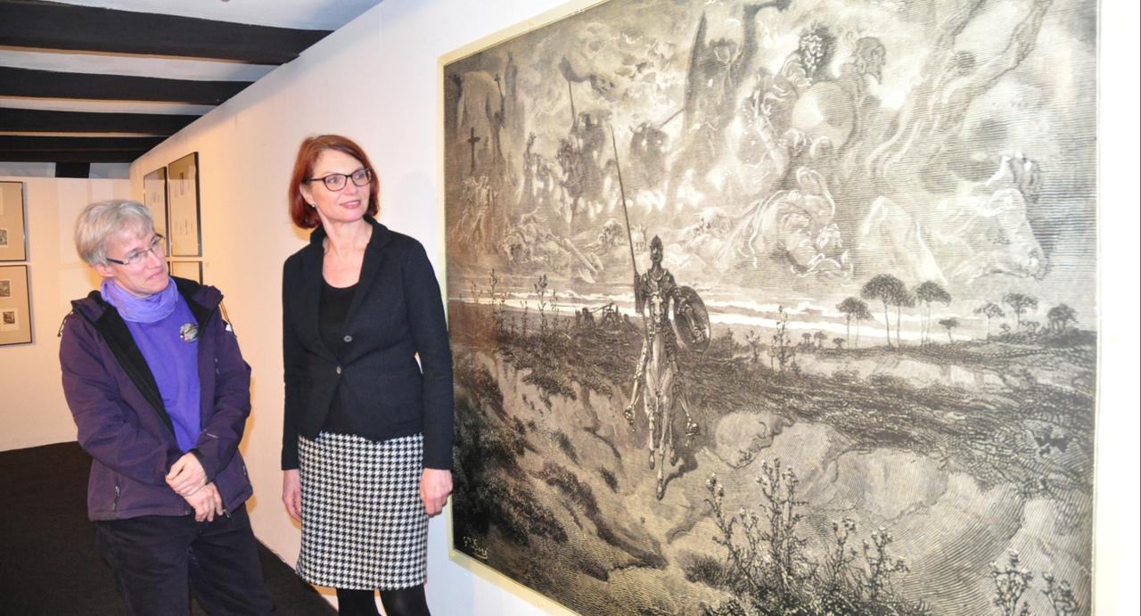 Don Quijote kämpft im Kunstmuseum