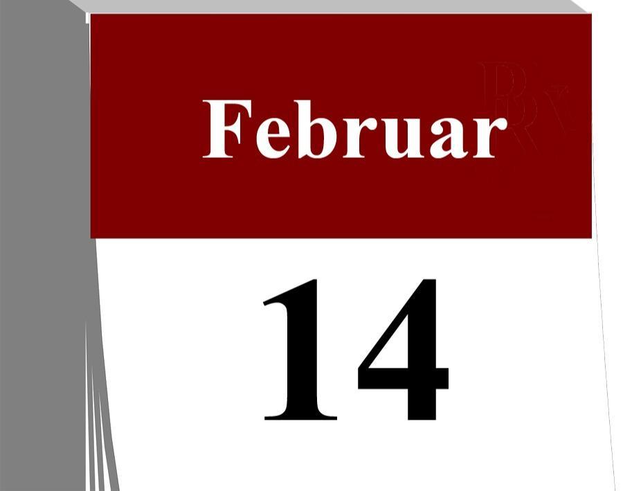 Der 14. Februar...