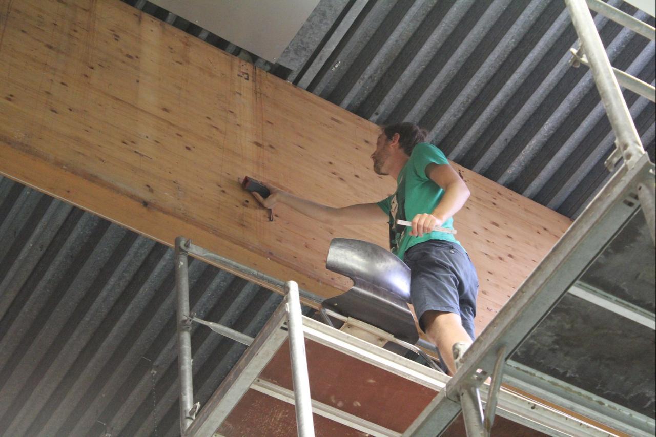 Dachkonstruktion wird repariert