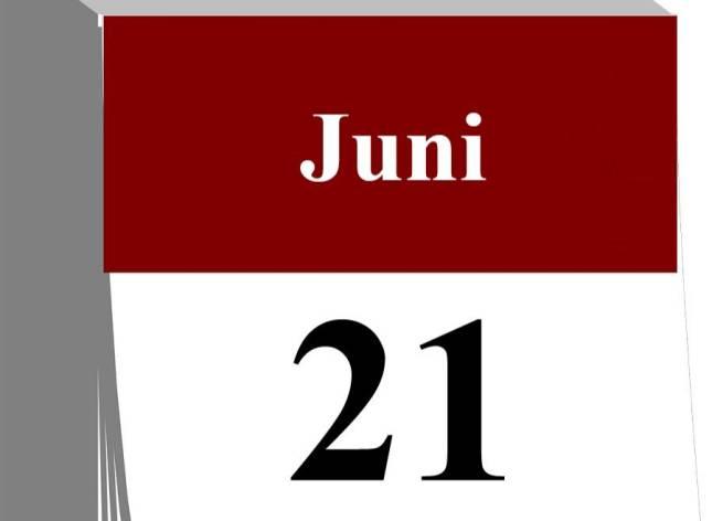 Der 21. Juni...