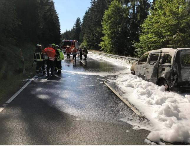 B 241 nach Autobrand noch gesperrt
