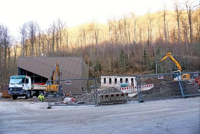 Bauarbeiten am Höhlenerlebniszentrum