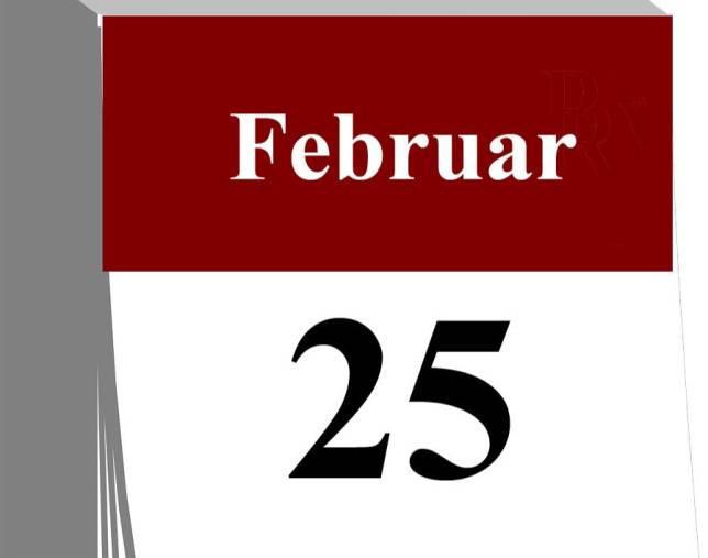 Der 25. Februar