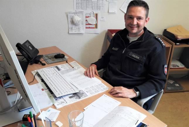 Manuel Felten führt Polizeiinspektion