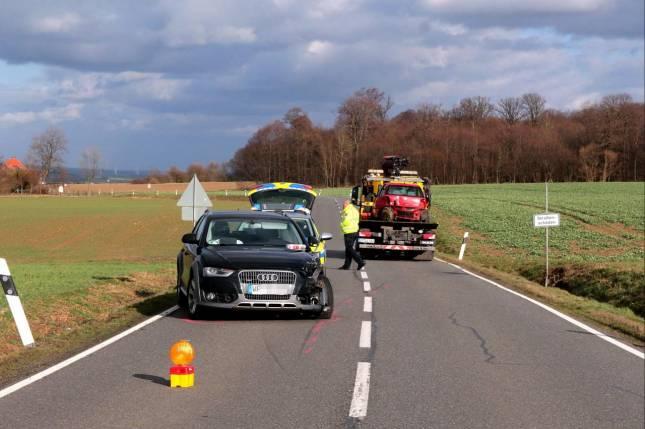 Verkehrsunfall mit zwei Leichtverletzten