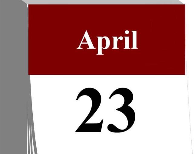Der 23. April...