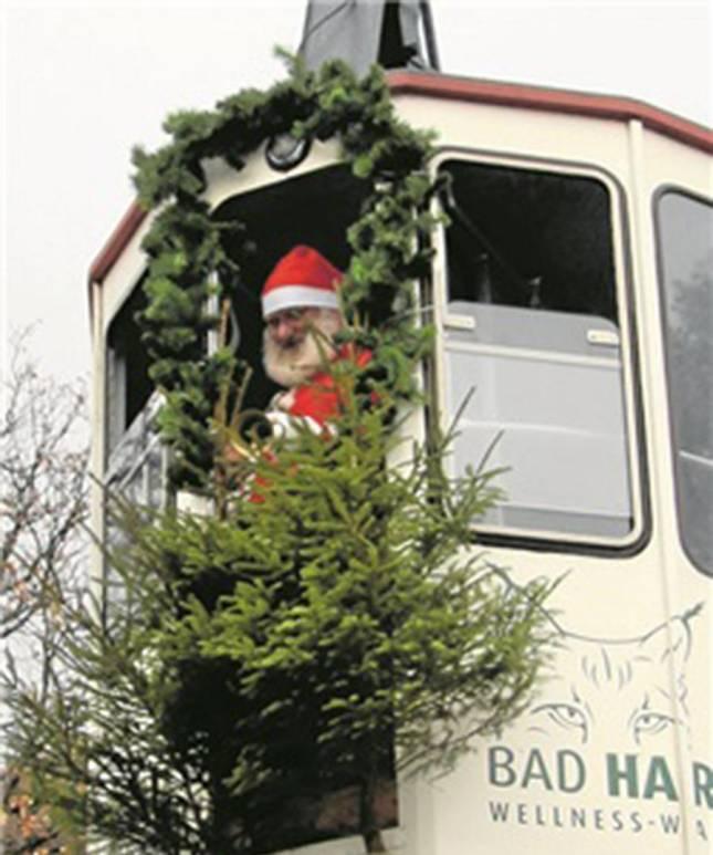 Der Nikolaus kommt heute mit der Bergbahn