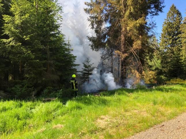 Ein weiterer Waldbrand am Montag