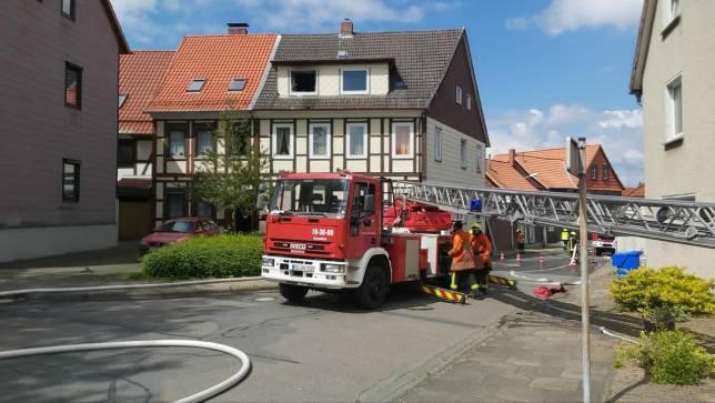 Brand in Wohnhaus in Seesen