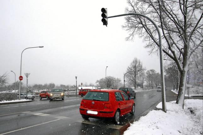 Winter stoppt Arbeiten an der Ampel