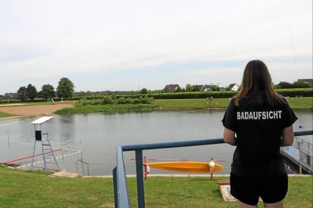 Teich wieder zum Baden freigegeben