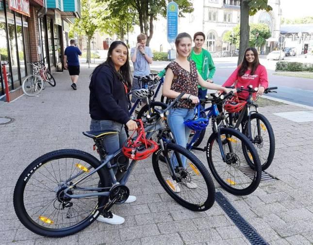 Fahrräder für das Internat