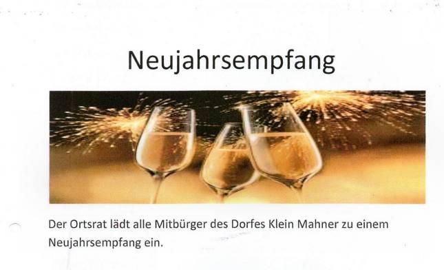 Neujahrsempfang in Klein Mahner
