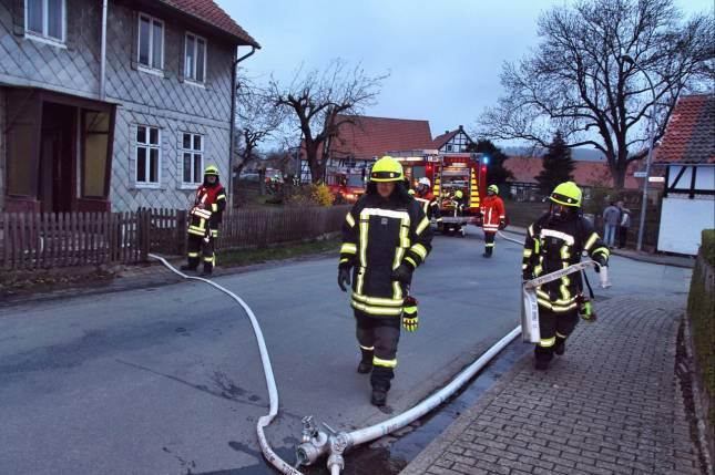 Verpuffung bringt Feuerwehr auf den Plan
