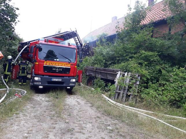 Gebäudefeuer in Klein Mahner
