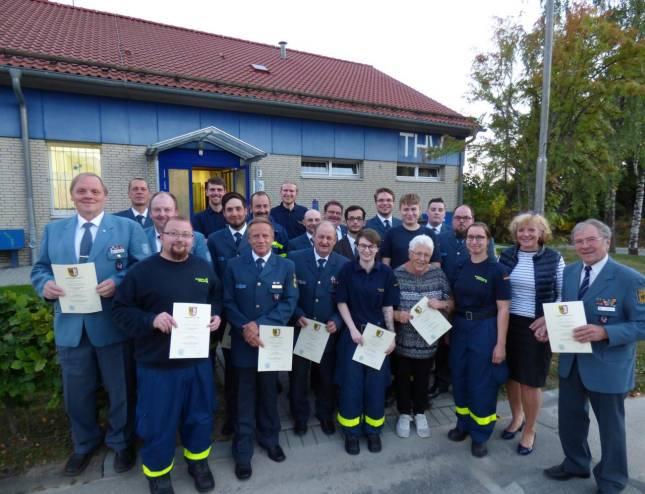 31 Oberharzer THW-Angehörige geehrt