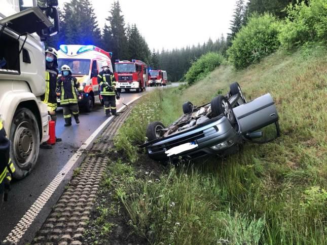 50-Jährige bei Unfall verletzt