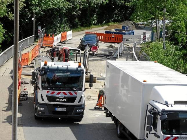 Brücke bald offen - nächste Baustelle naht