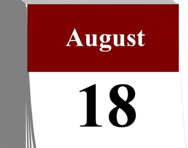 Der  18. August...