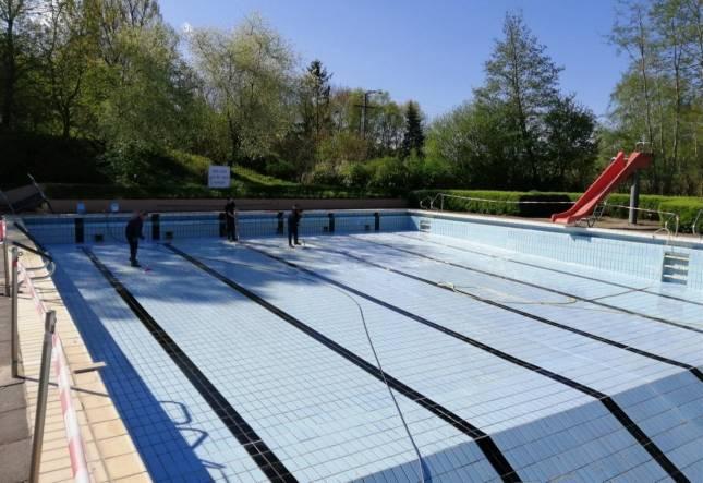 Arbeitseinsätze im Schwimmbad Hornburg