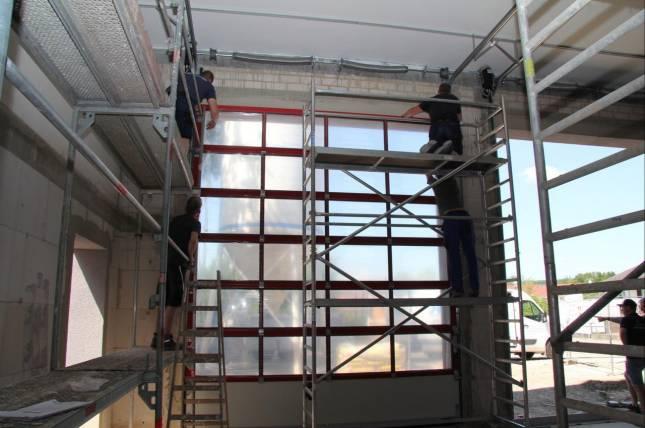 Tore für den Anbau des Feuerwehrhauses