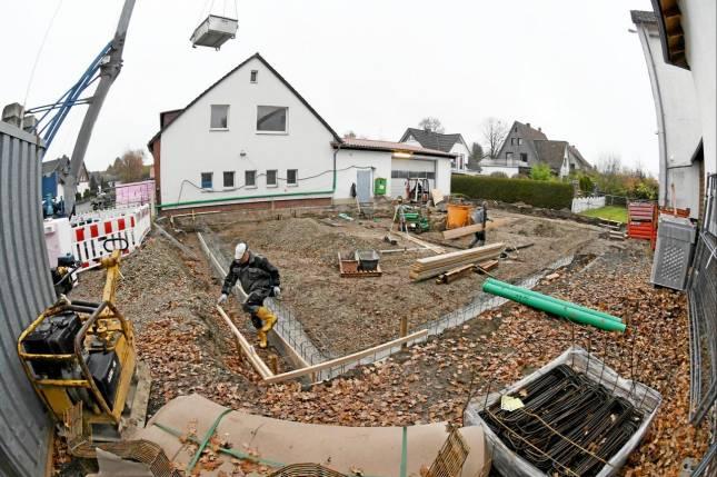 Baustart am Rathaus