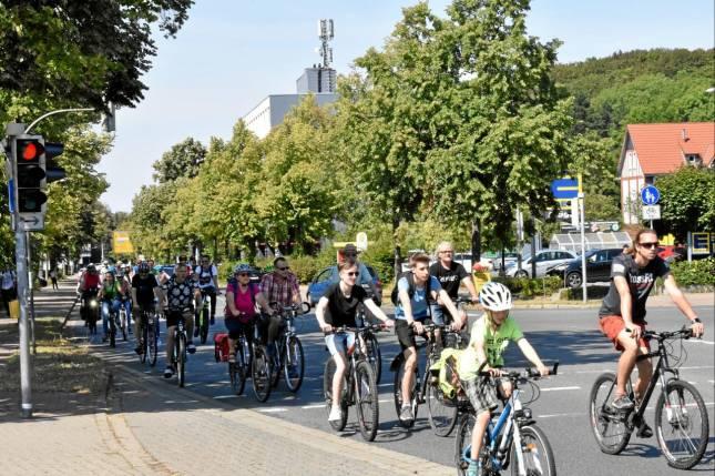 Knapp 50 Teilnehmer bei Fahrrad-Demo