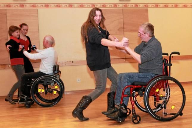 Tanztraining für Rollstuhlfahrer