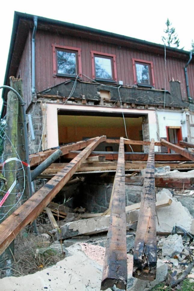 Abriss des Kästehauses hat begonnen