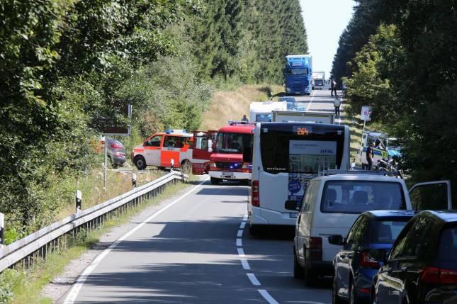 Motorradunfall auf der B27